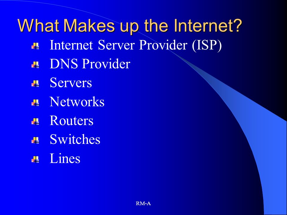 What Makes up the Internet