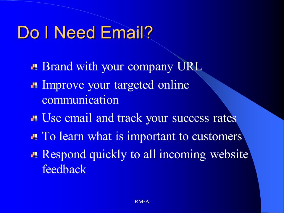 Do I Need Email Brand with your company URL