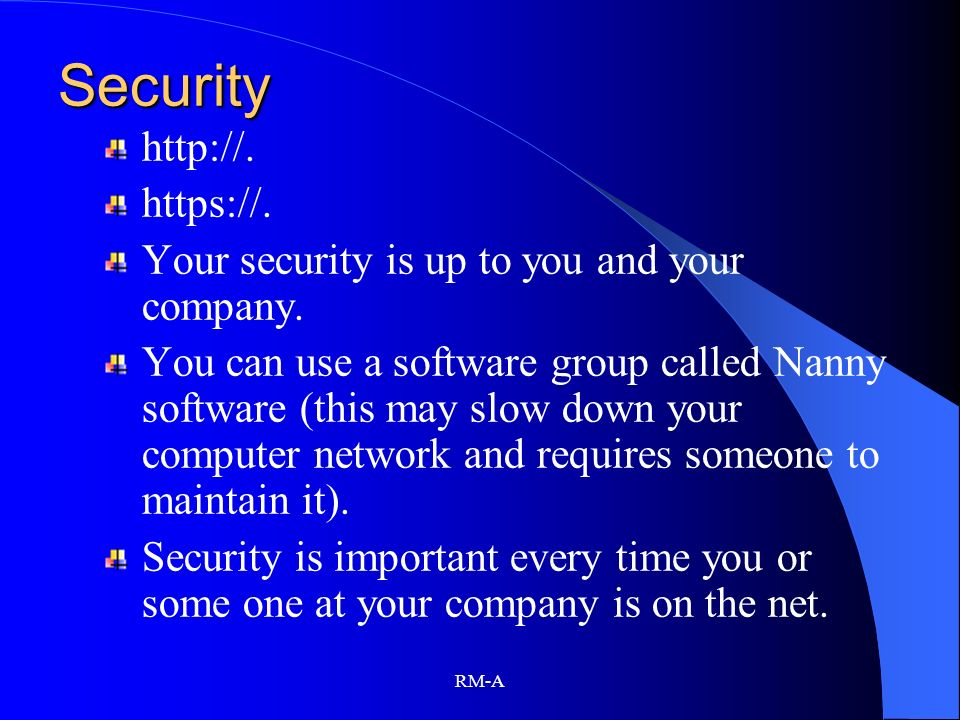 Security http://. https://.