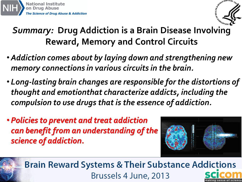 Summary: Drug Addiction is a Brain Disease Involving Reward, Memory and Control Circuits