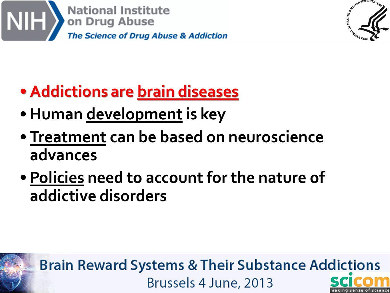 Addictions are brain diseases