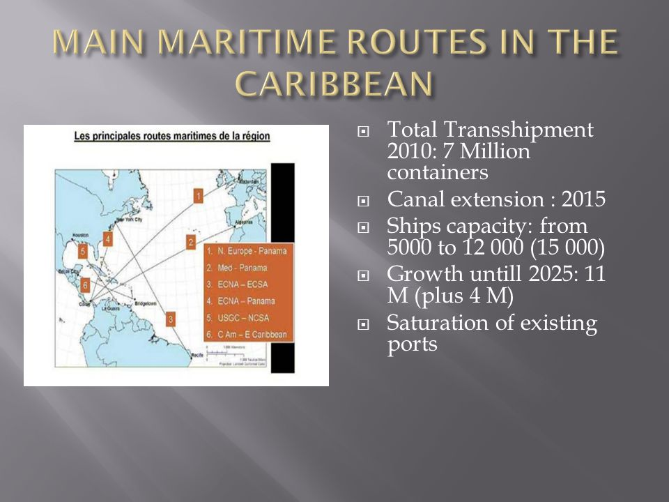 MAIN MARITIME ROUTES IN THE CARIBBEAN