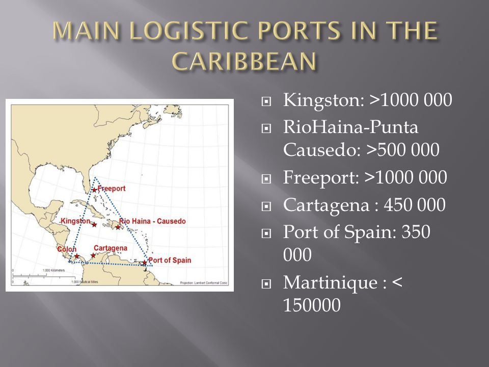 MAIN LOGISTIC PORTS IN THE CARIBBEAN