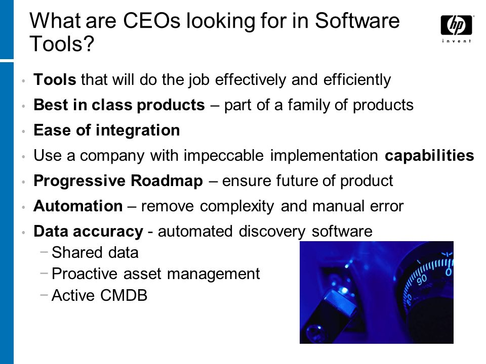 What are CEOs looking for in Software Tools