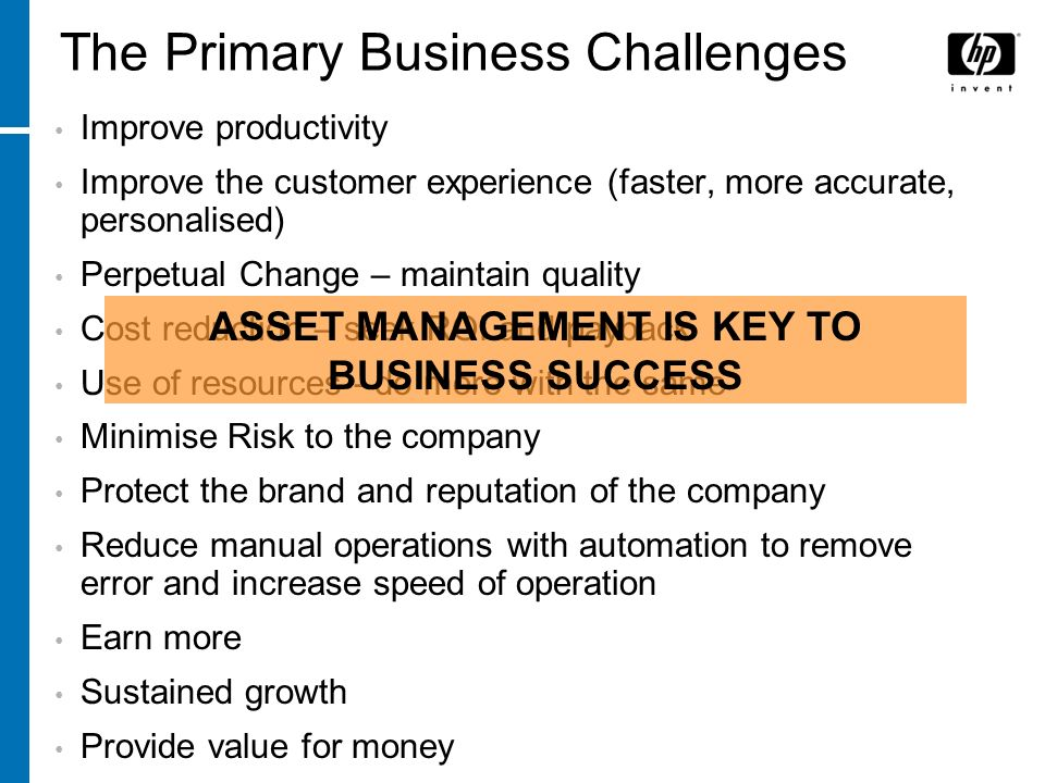 The Primary Business Challenges