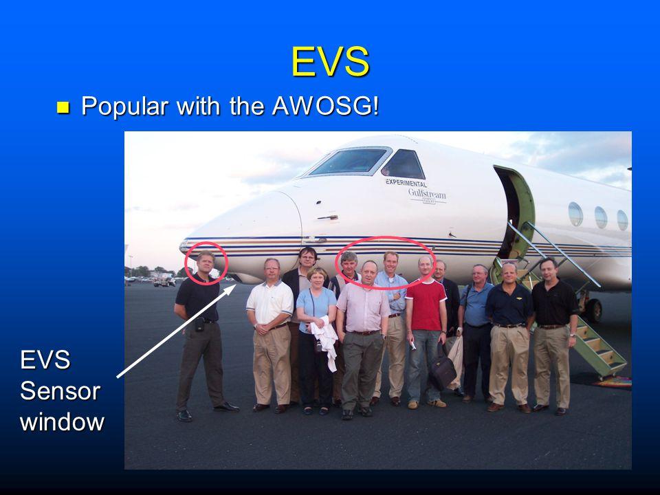 EVS Popular with the AWOSG! EVS Sensor window