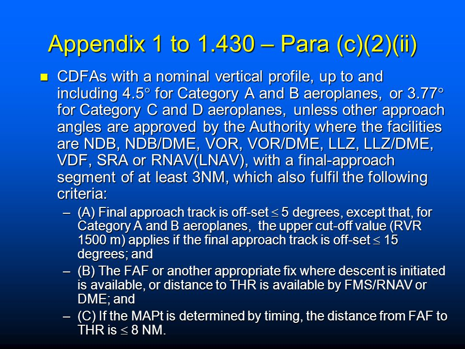 Appendix 1 to 1.430 – Para (c)(2)(ii)