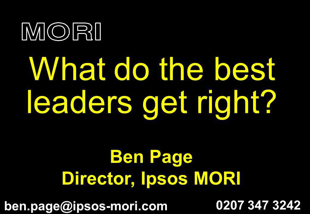 What do the best leaders get right
