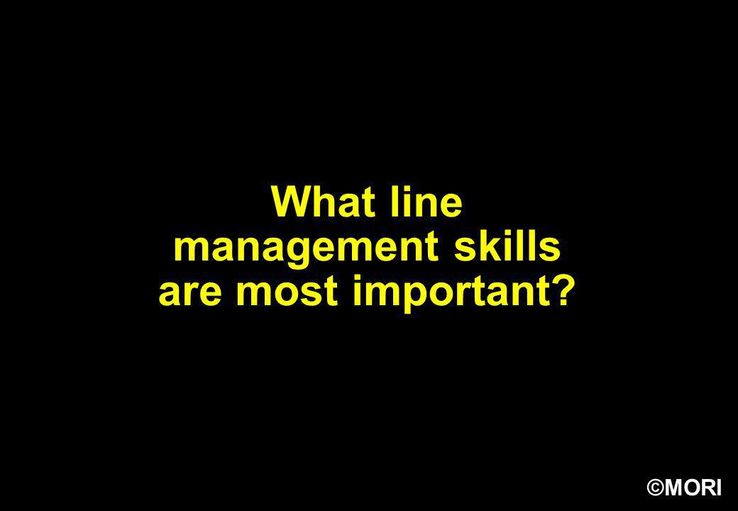 What line management skills are most important