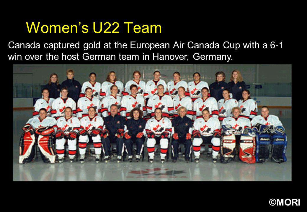 Women's U22 Team Canada captured gold at the European Air Canada Cup with a 6-1 win over the host German team in Hanover, Germany.