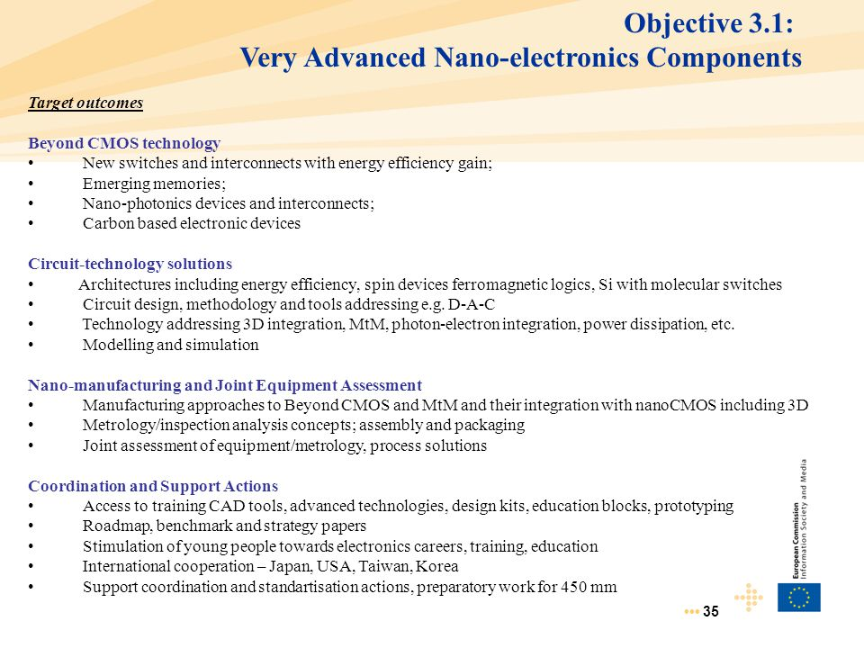 Very Advanced Nano-electronics Components