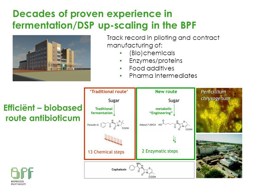 Efficiënt – biobased route antibioticum