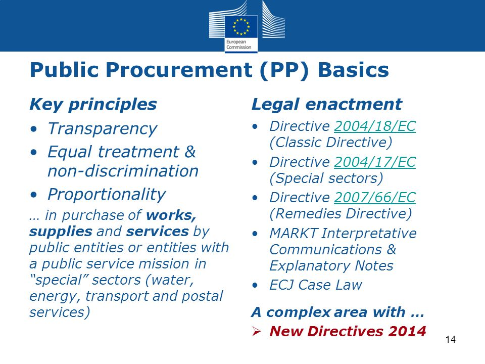 Public Procurement (PP) Basics