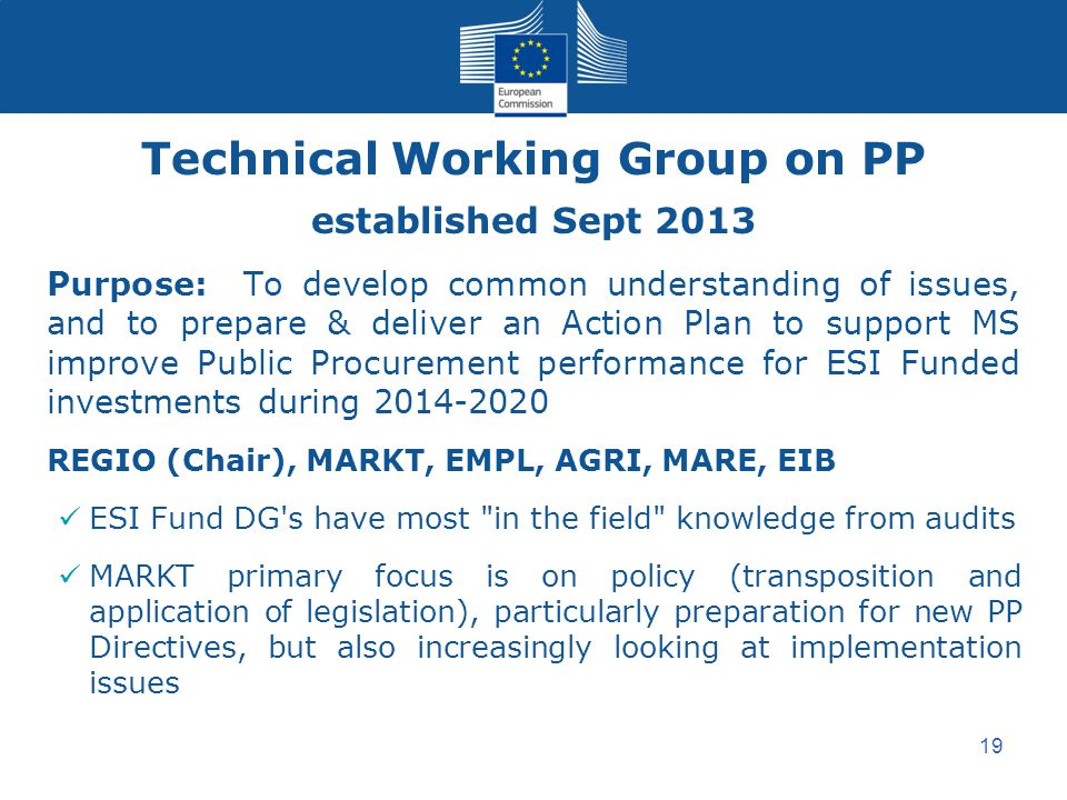 Technical Working Group on PP
