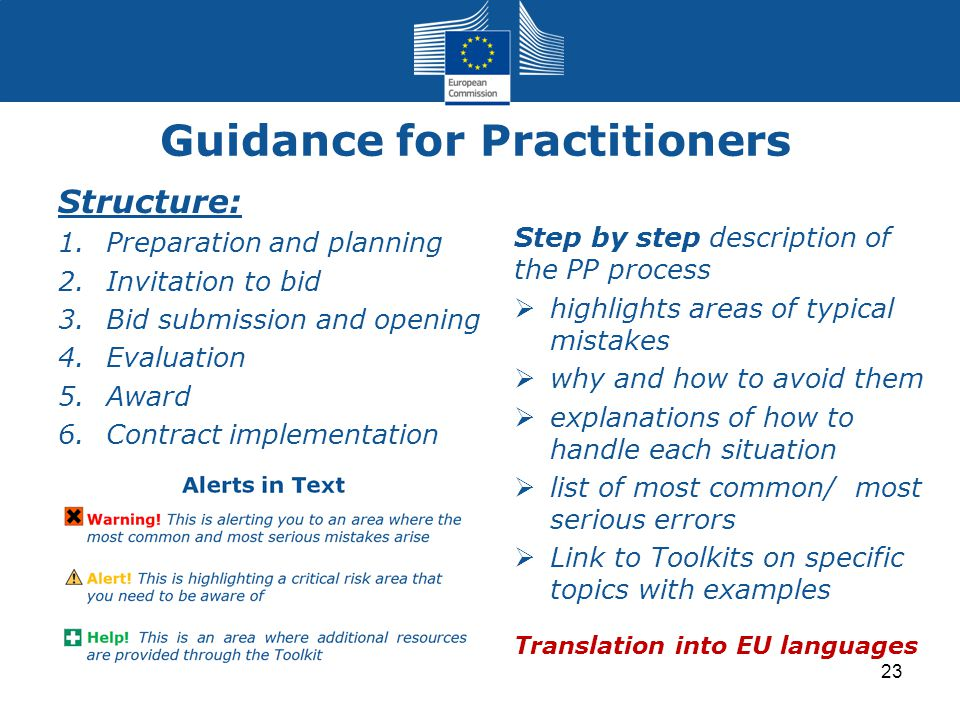 Guidance for Practitioners