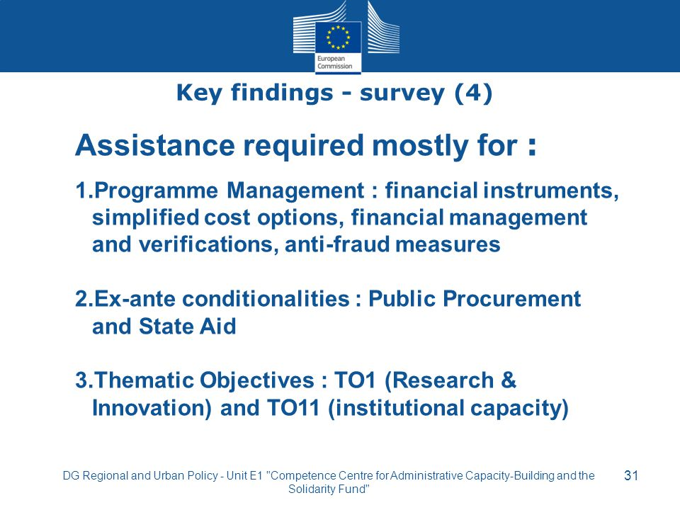 Key findings - survey (4)