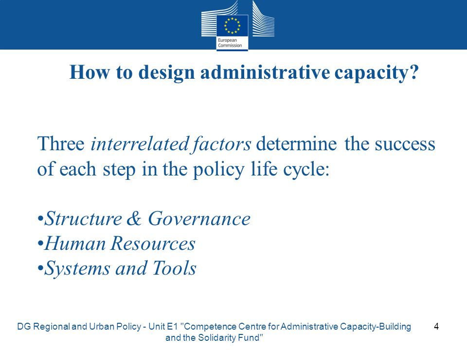 How to design administrative capacity