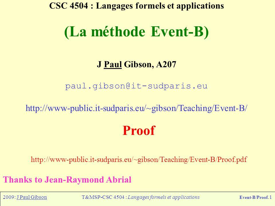 CSC 4504 : Langages formels et applications