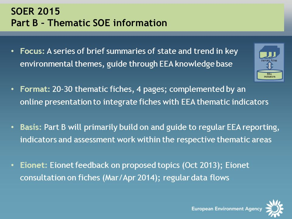 SOER 2015 Part B – Thematic SOE information