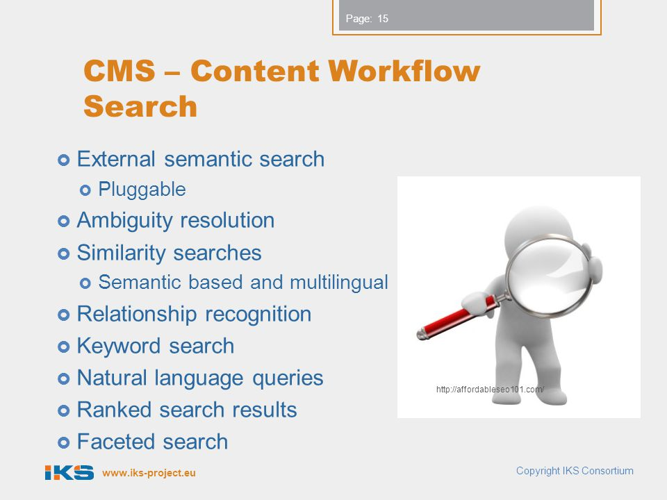 CMS – Content Workflow Search