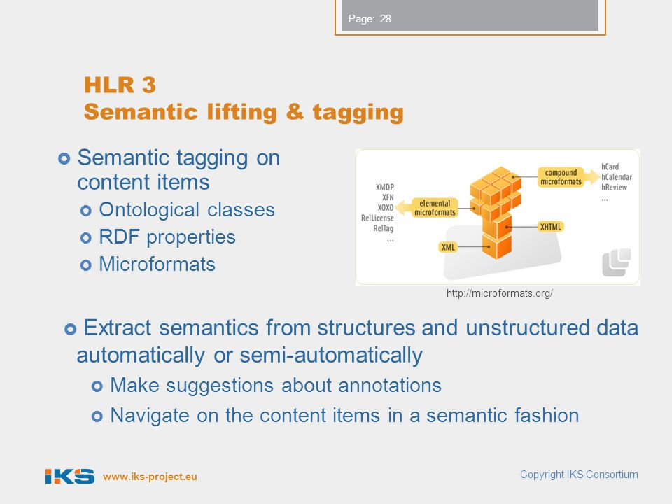 HLR 3 Semantic lifting & tagging