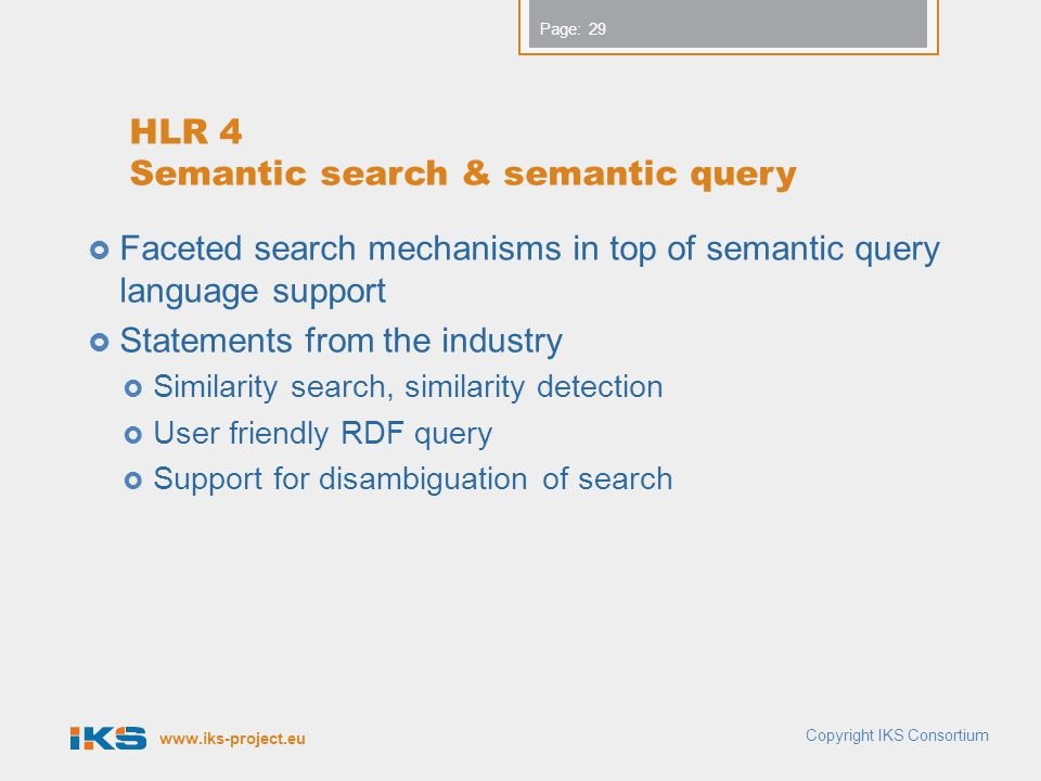 HLR 4 Semantic search & semantic query