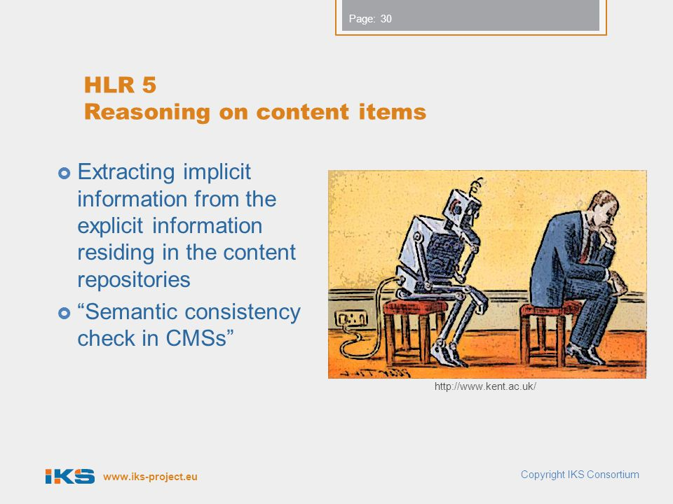 HLR 5 Reasoning on content items