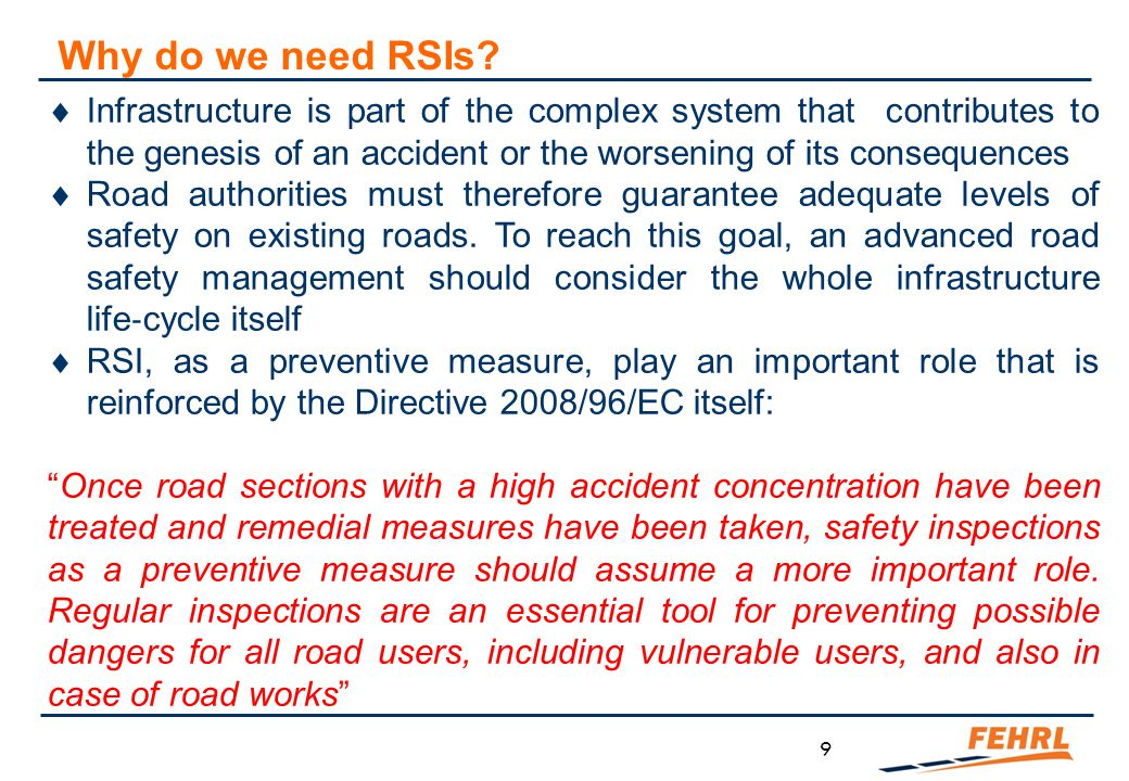 When should RSI be carried out
