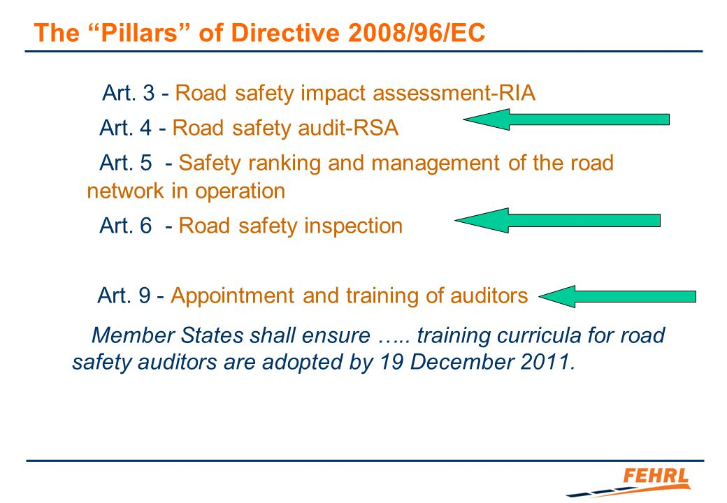 Why Secondary Roads The limits of the Directive
