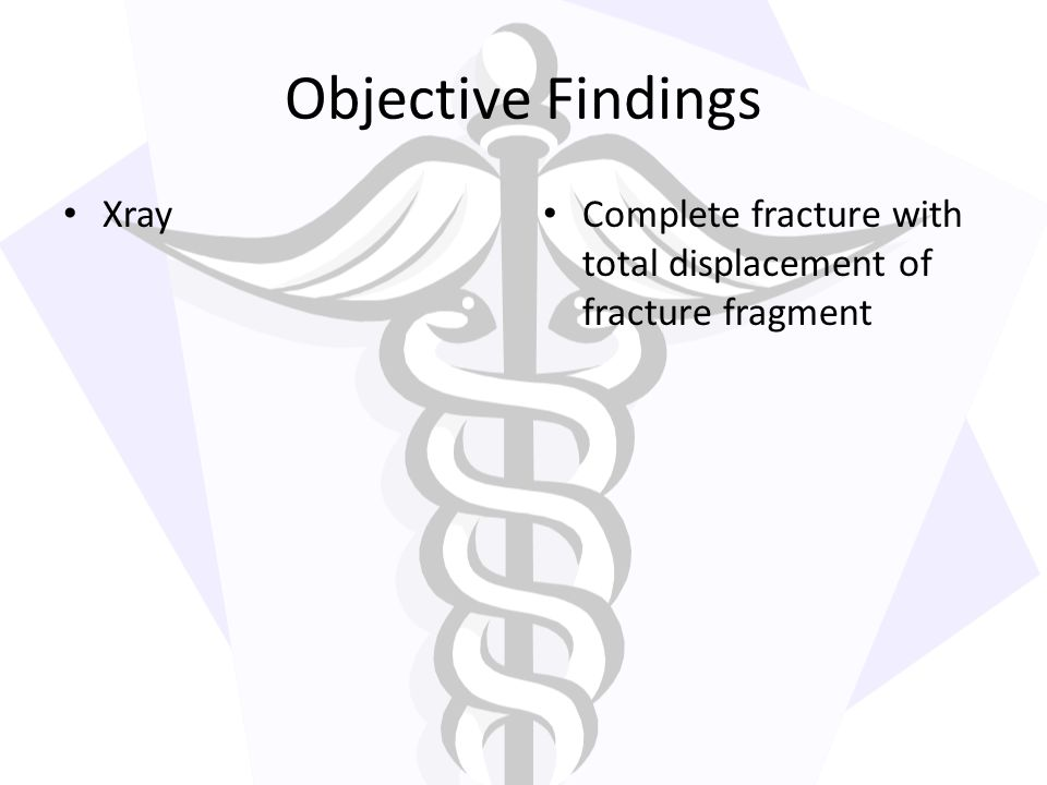 Objective Findings Xray