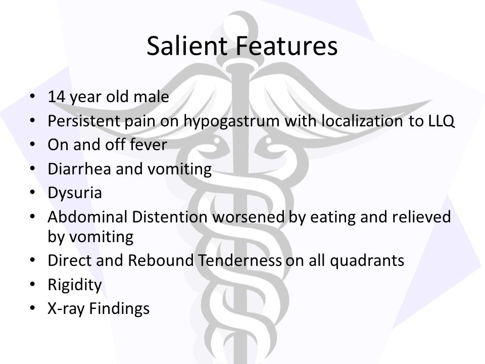 Salient Features 14 year old male