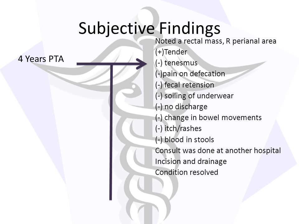 Subjective Findings 4 Years PTA