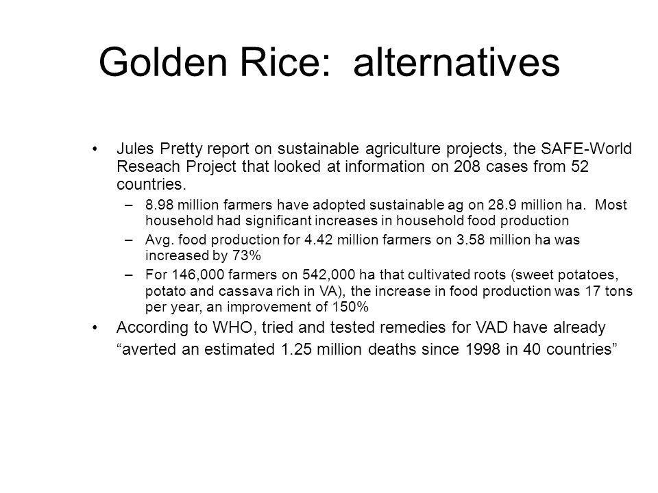 Golden Rice: alternatives