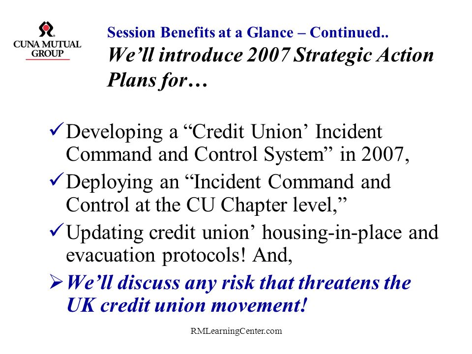 Deploying an Incident Command and Control at the CU Chapter level,