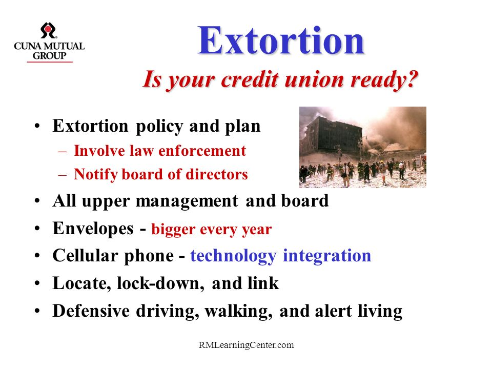 Extortion Is your credit union ready