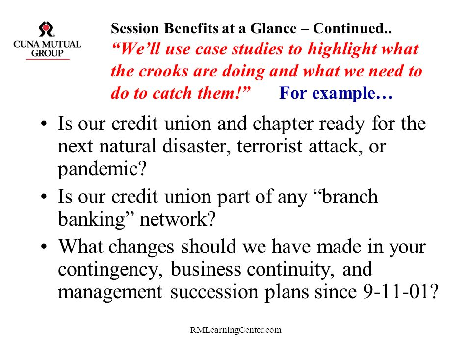 Is our credit union part of any branch banking network