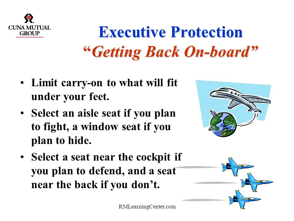 Executive Protection Getting Back On-board