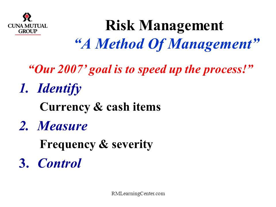 Risk Management A Method Of Management
