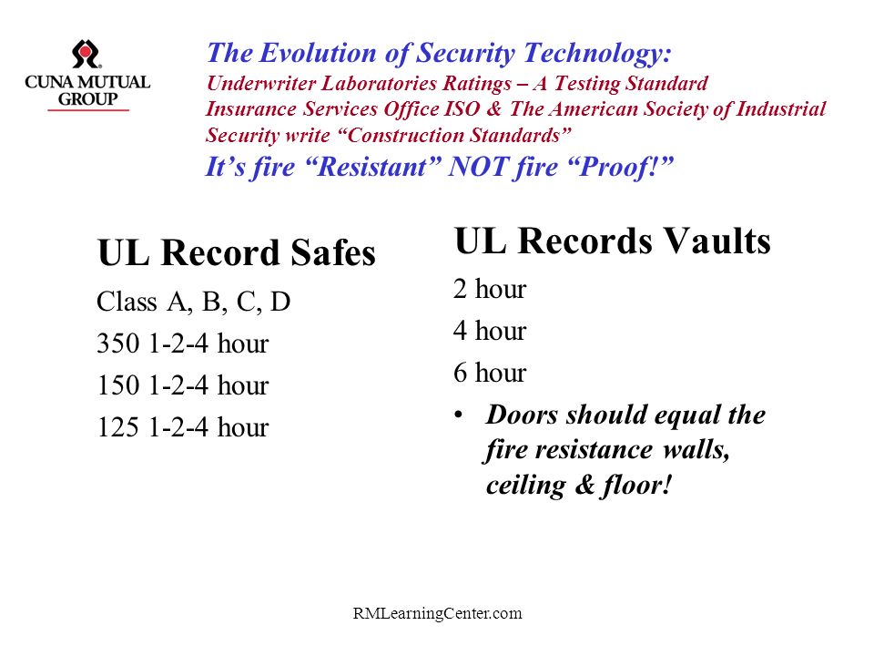 UL Records Vaults UL Record Safes