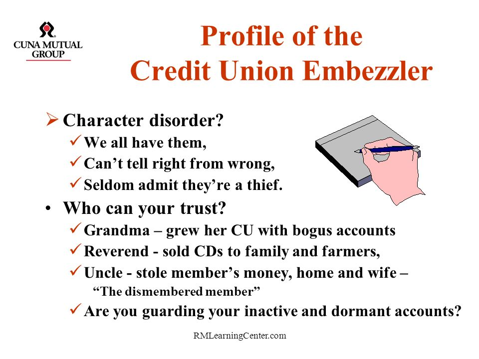 Profile of the Credit Union Embezzler