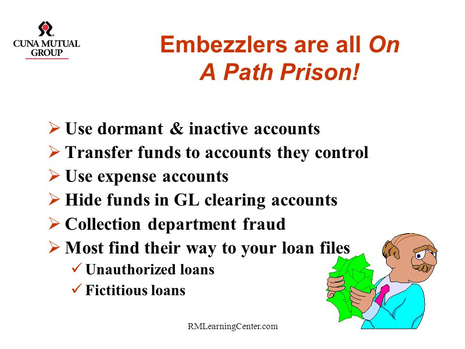 Embezzlers are all On A Path Prison!