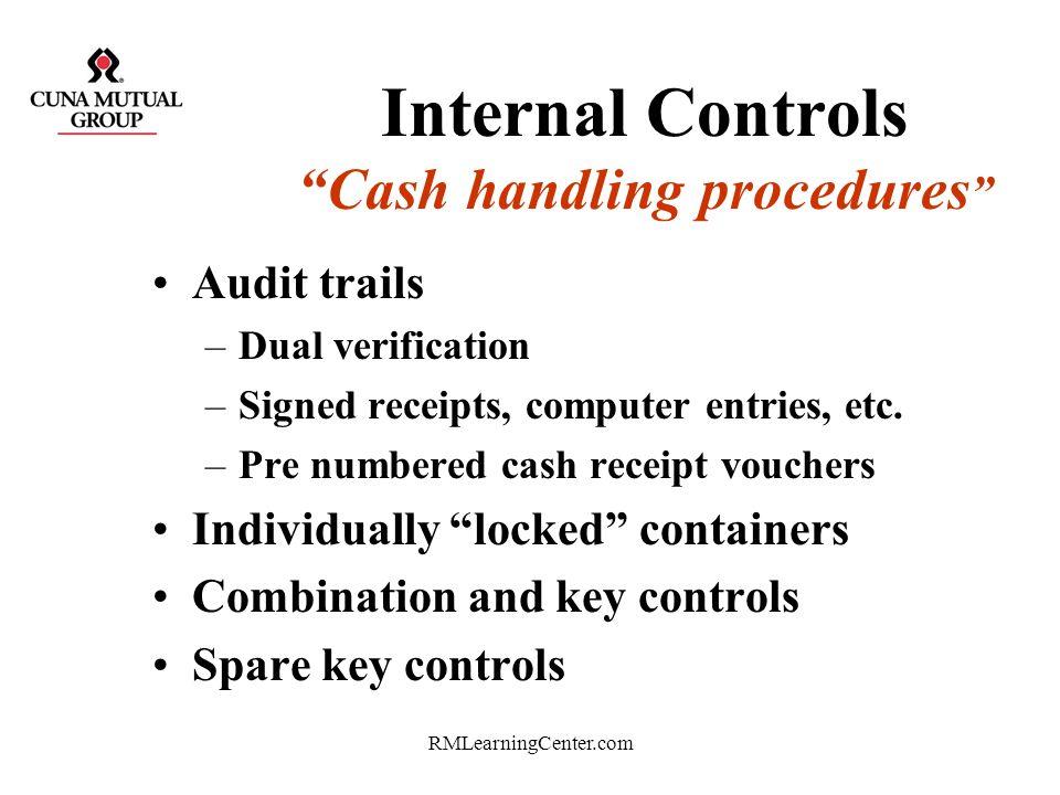 Internal Controls Cash handling procedures