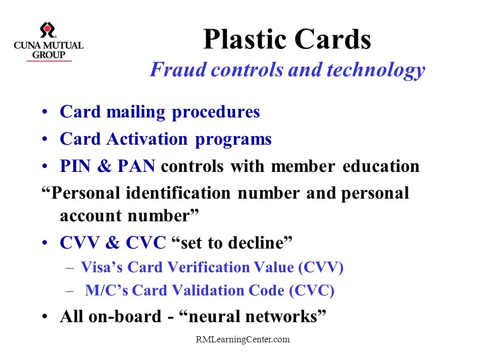 Plastic Cards Fraud controls and technology