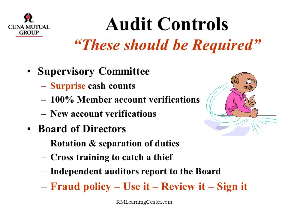 Audit Controls These should be Required