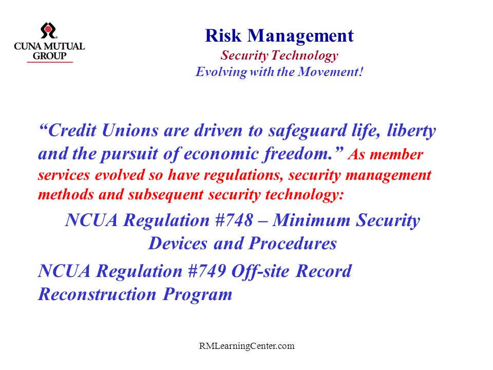 Risk Management Security Technology Evolving with the Movement!