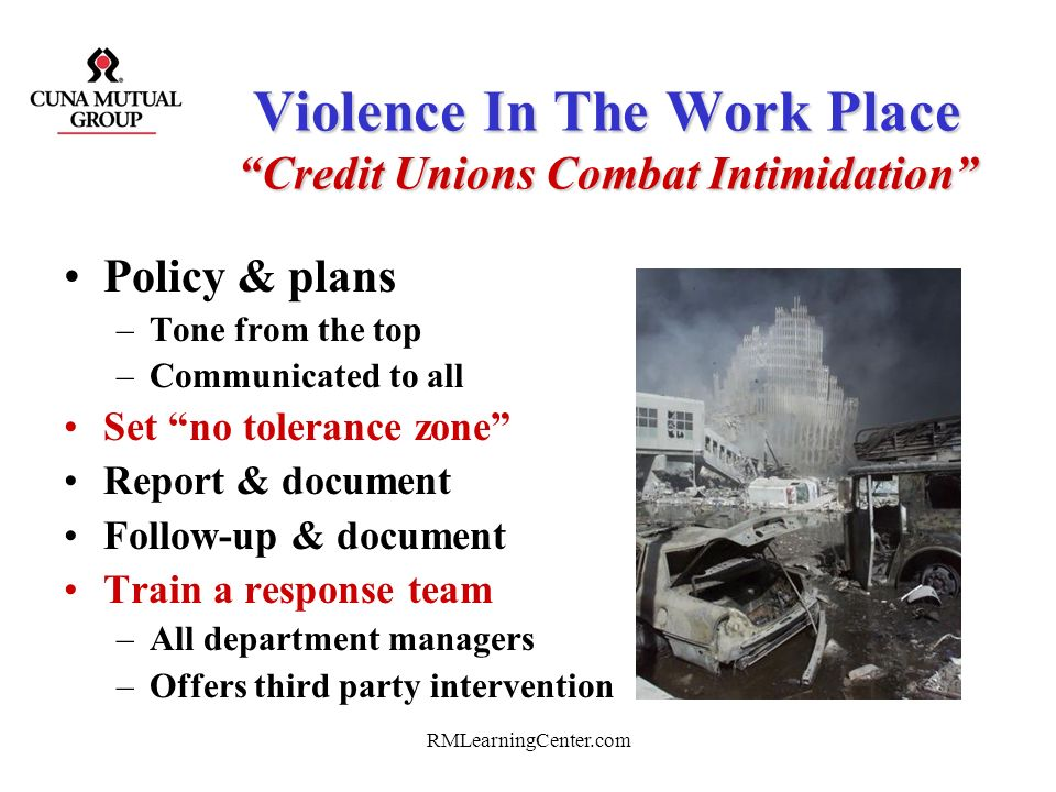 Violence In The Work Place Credit Unions Combat Intimidation