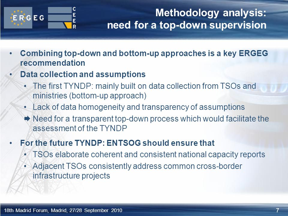 Methodology analysis: need for a top-down supervision