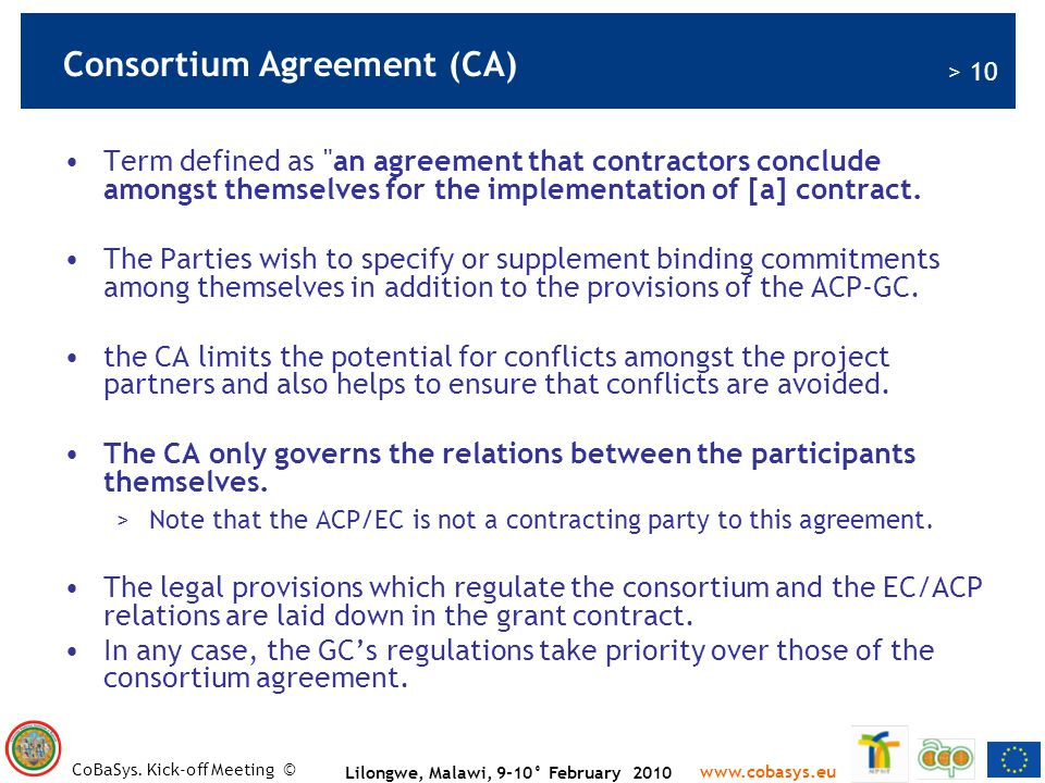 Consortium Agreement (CA)