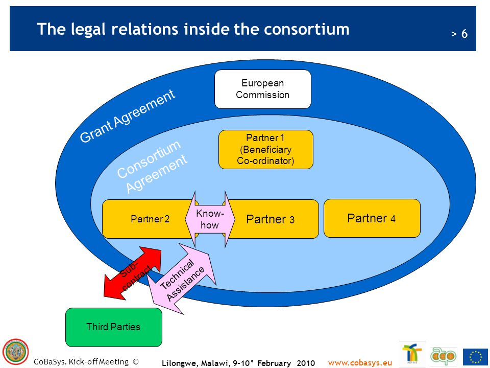 The legal relations inside the consortium