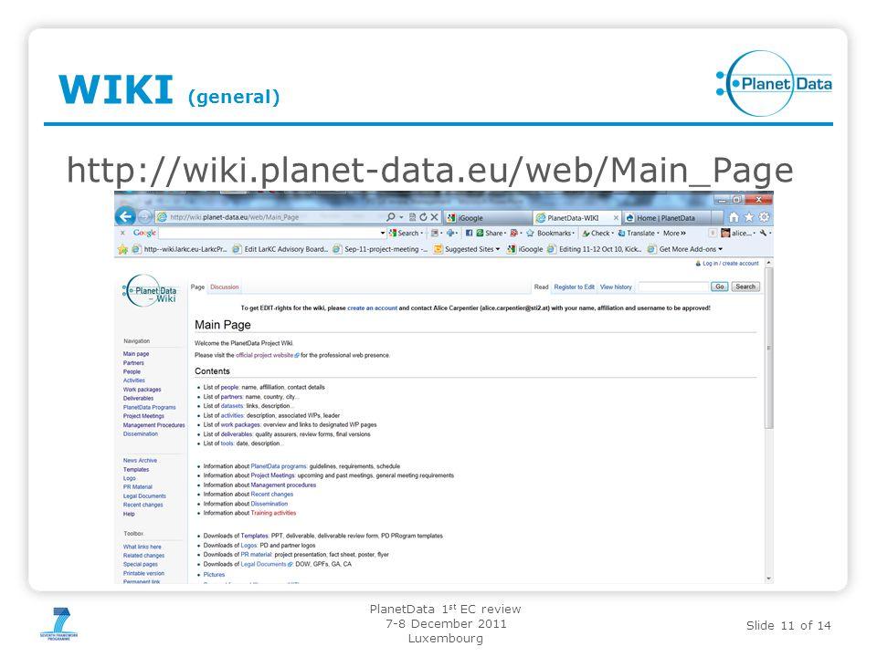 02.11.11 WIKI (general) http://wiki.planet-data.eu/web/Main_Page